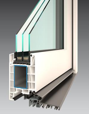 Profil plastových dveří PERFEKT EVO